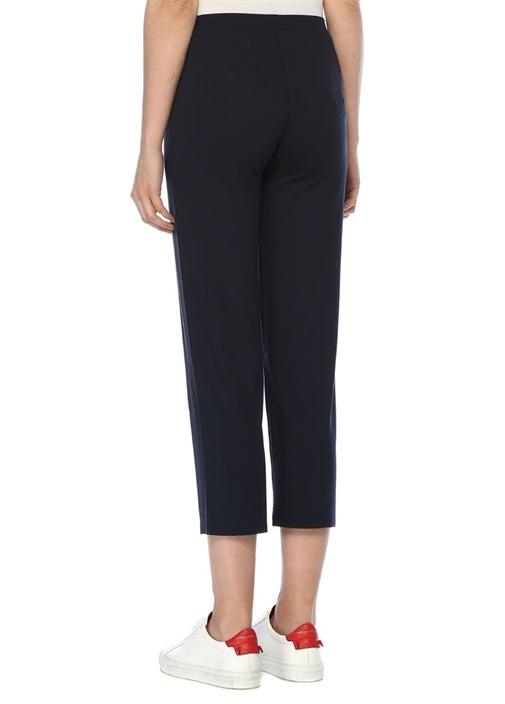 Lacivert Normal Bel Streç Crop Pantolon