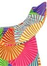 Colorblocked Desenli Tek Omuzlu Kız Çocuk Elbise