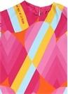 Colorblocked Logo Baskılı Kız Çocuk Elbise