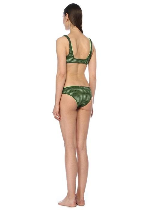 Summer Yeşil Çift Taraflı Lazer Kesim Bikini Takım