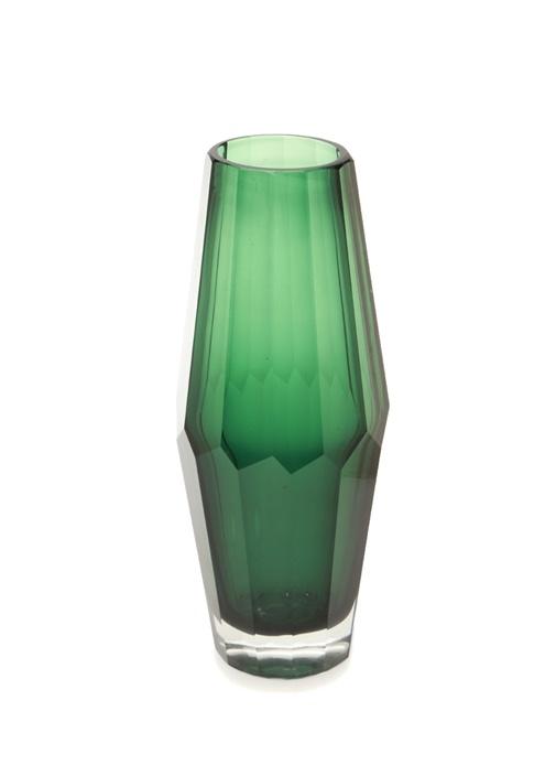 Cutty New Small Yeşil Silindir Formlu Cam Vazo