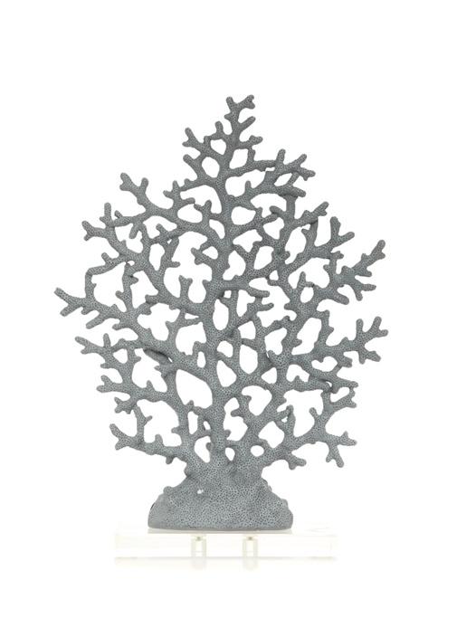 Gri Mercan Formlu Dekoratif Obje