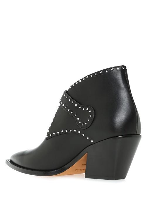 Elegant Siyah Troklu Kadın Deri Bot