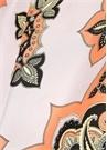 Somon Lila Etnik Desenli Kadın İpek Fular