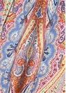 Turuncu Mavi Etnik Desenli Kadın Yün Şal