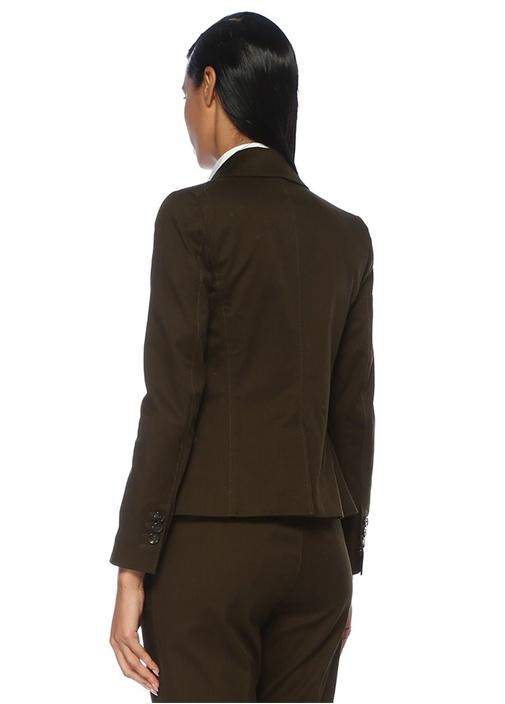 Nelson Haki Kelebek Yaka Streç Twill Blazer Ceket
