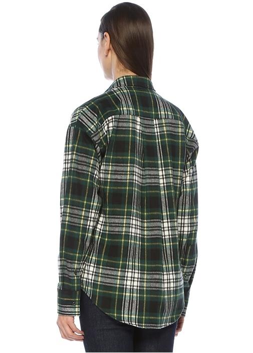 Yeşil Siyah Ekose Desenli Gömlek