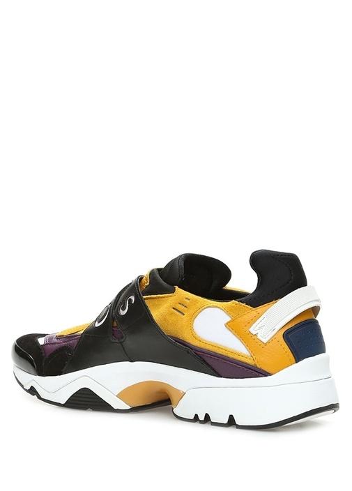 New Sonic Siyah Sarı Logolu Kadın Deri Sneaker