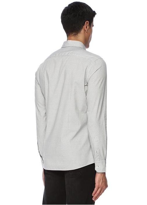 Slim Fit Siyah Beyaz Karo Desenli Gömlek