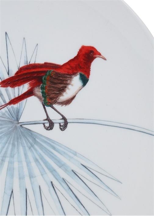 Birds Of Paradise Beyaz Dekoratif Tabak