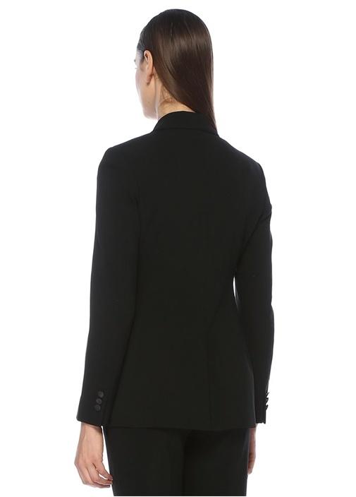 Kwatu Siyah Şal Yaka Tek Düğmeli Ceket