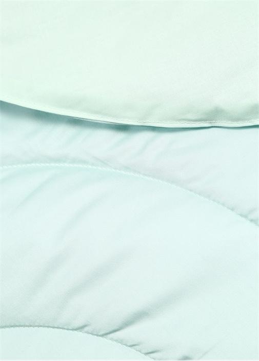 Mavi Kapitoneli Çift Kişilik Yatak Örtüsü