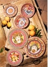 Barok Turuncu Yemek Tabağı