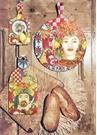Barok Turuncu Küçük Boy Kesme Tahtası