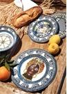 Barok Mavi Yemek Tabağı