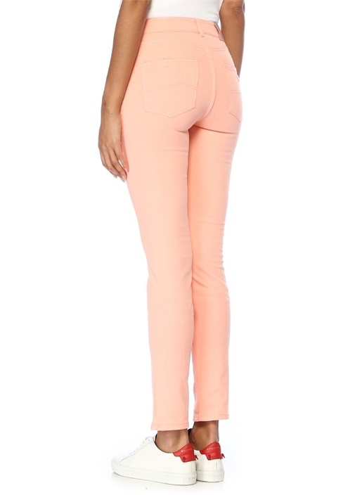 Slim Fit Pembe Jean Pantolon