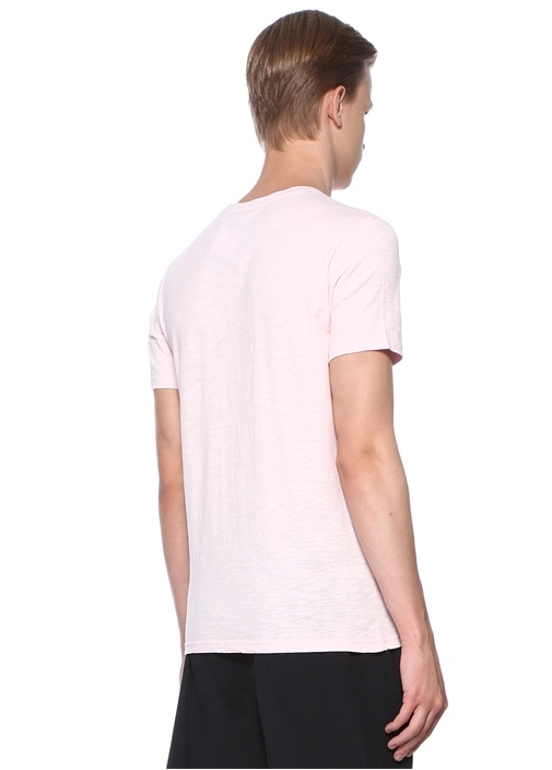Pembe Baskılı T-shirt