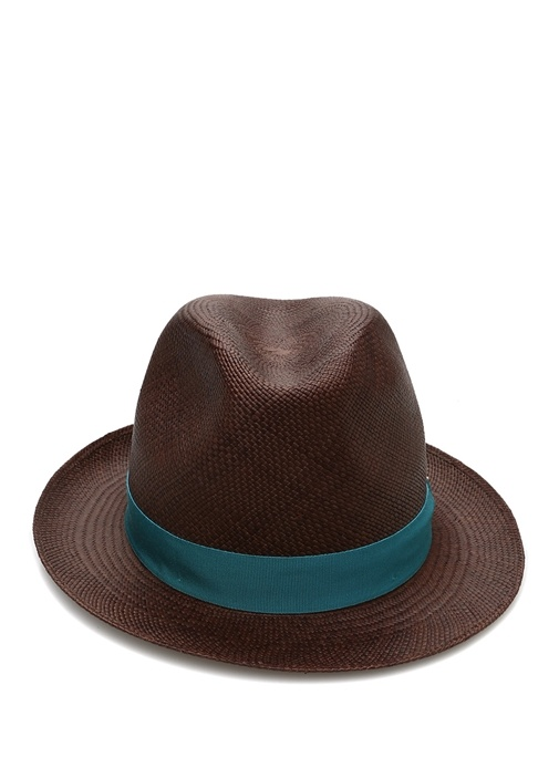 Kahverengi Logolu Bantlı Erkek Şapka