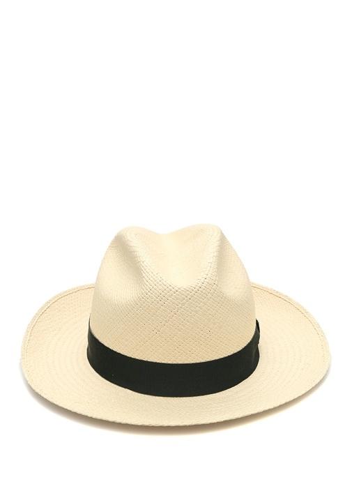 Bej Yeşil Bantlı Erkek Şapka