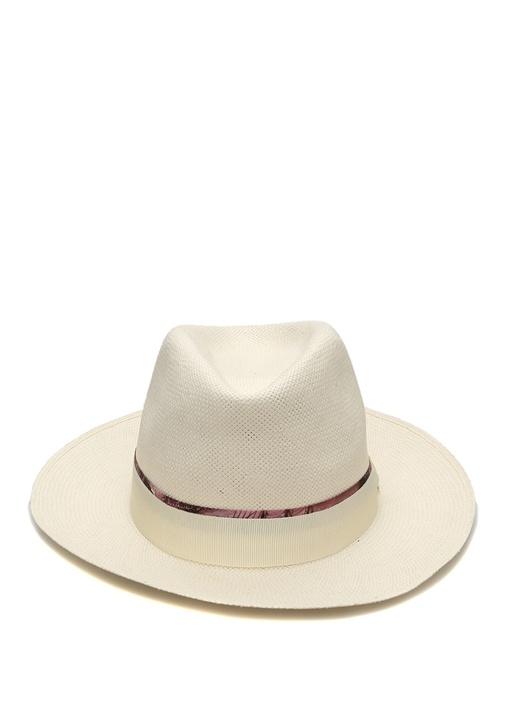 Beyaz Logolu Bantlı Erkek Şapka