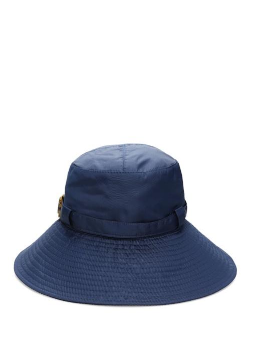 Lacivert Dikiş Detaylı Kadın Şapka