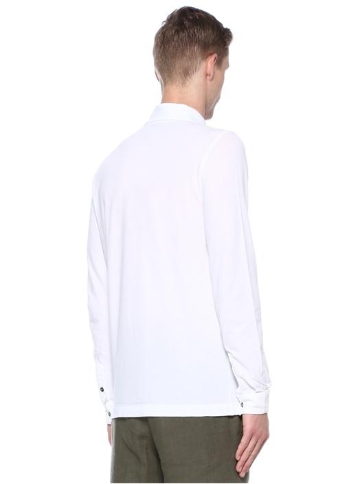 Beyaz Polo Yaka Gömlek