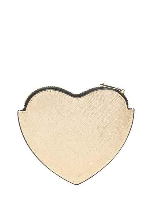 Gold Kalp Formlu Logolu Kadın Cüzdan