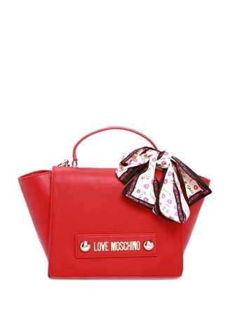 Love Moschino Kadın Kırmızı Fular Detaylı Omuz Çantası EU female Standart