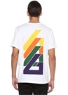 Loose Fit Beyaz Logo Baskılı T-shirt