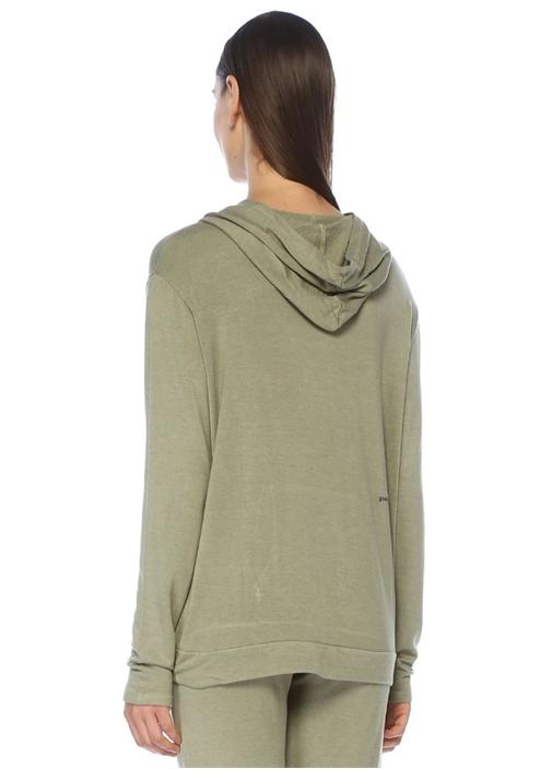 With Pleasure Yeşil Kapüşonlu Sweatshirt