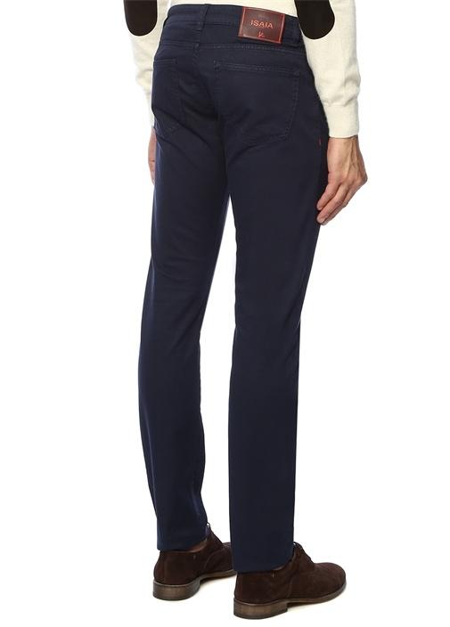 Lacivert Normal Bel Dar Paça Pantolon