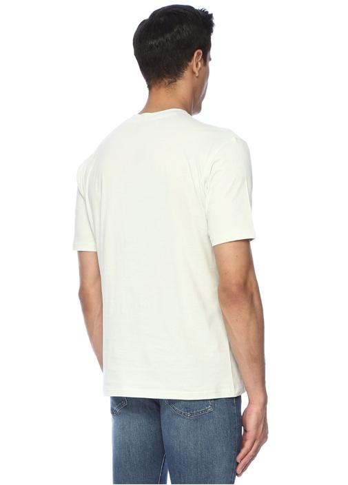 Yeşil Logo Baskılı Basic T-shirt