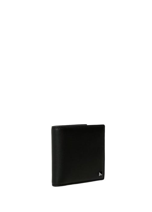 Siyah Logolu Erkek Deri Cüzdan