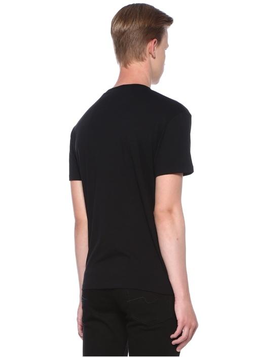 VLTN Siyah Bisiklet Yaka Basic T-shirt