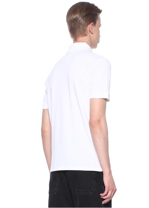 Rockstud 16 Beyaz Polo Yaka Dokulu T-shirt