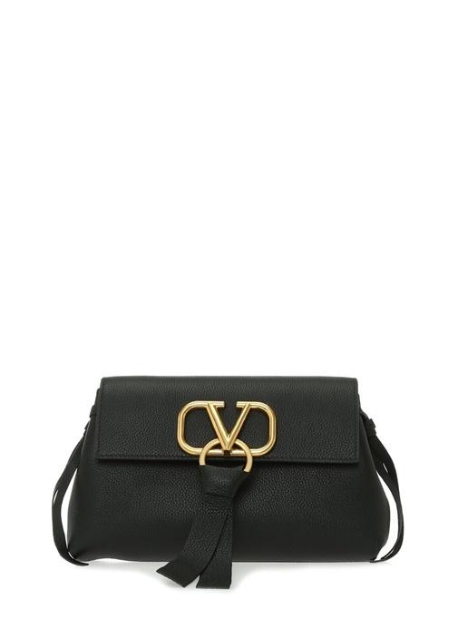 Valentıno Garavanı Vring Siyah Logolu Kadın Deri Çanta – 12750.0 TL