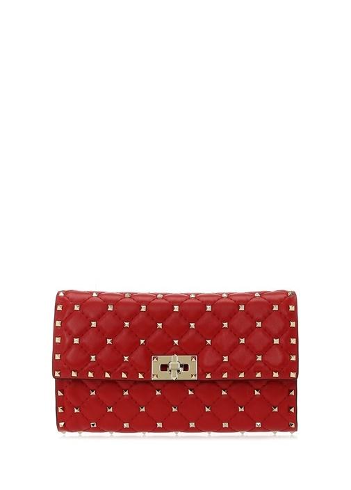 Valentıno Garavanı Rockstud Kırmızı Logolu Kadın Deri El Portföyü – 10950.0 TL