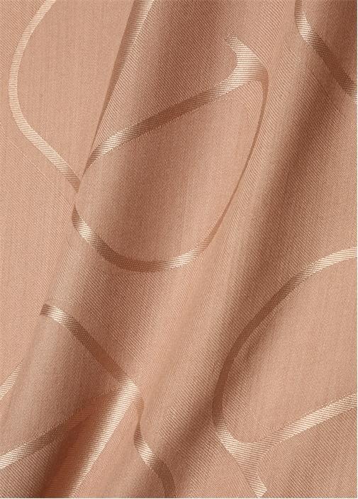 Vring Pudra Logo Kabartmalı Kadın İpek Şal