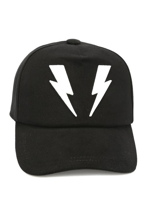 Siyah Logo Patchli Erkek Şapka