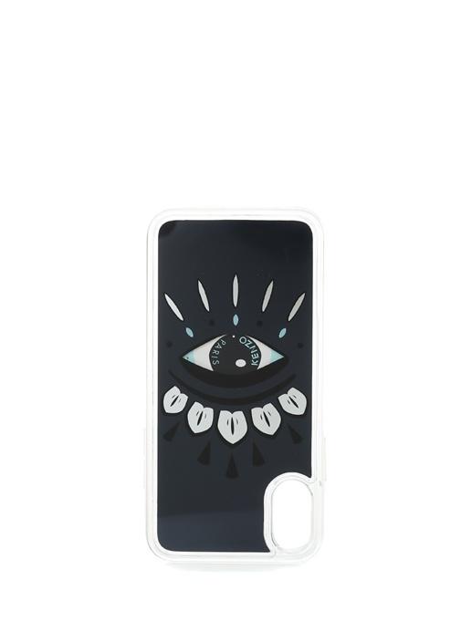 Lacivert Baskılı iPhone X/XS Telefon Kılıfı