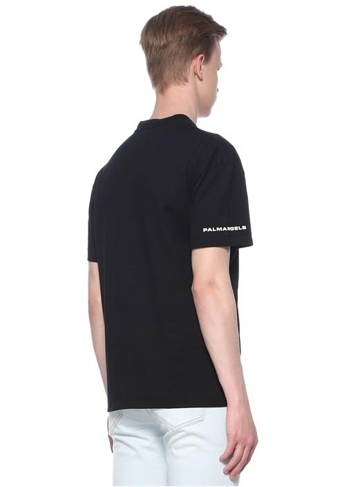 Storm Siyah Kartal Baskılı Basic T-shirt