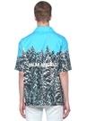 Pines Hawaii Mavi Kamp Yaka Desenli Gömlek