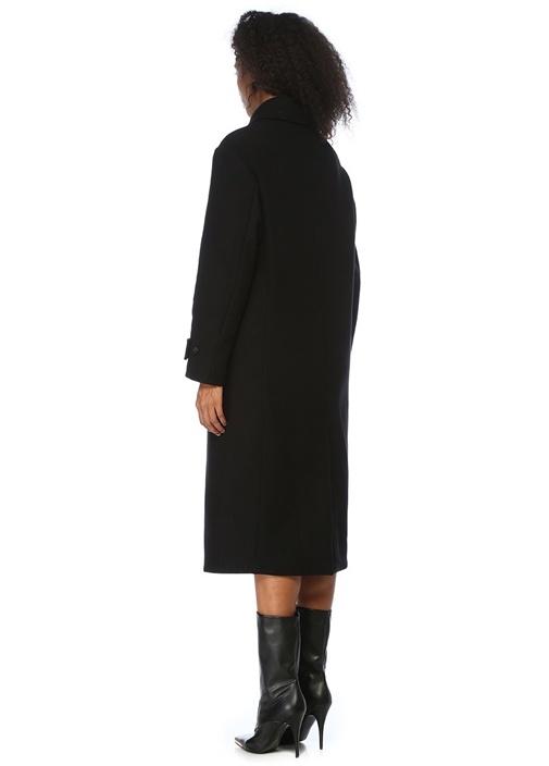 Siyah Kruvaze Palto