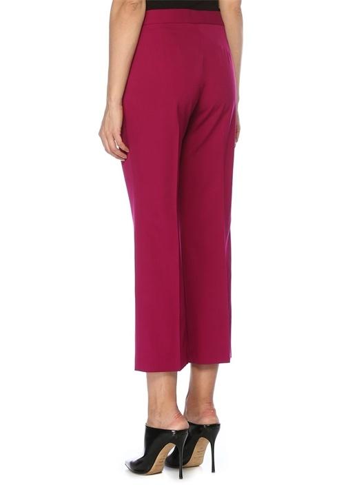 Carlie Slim Fit Fuşya Crop Yün Pantolon