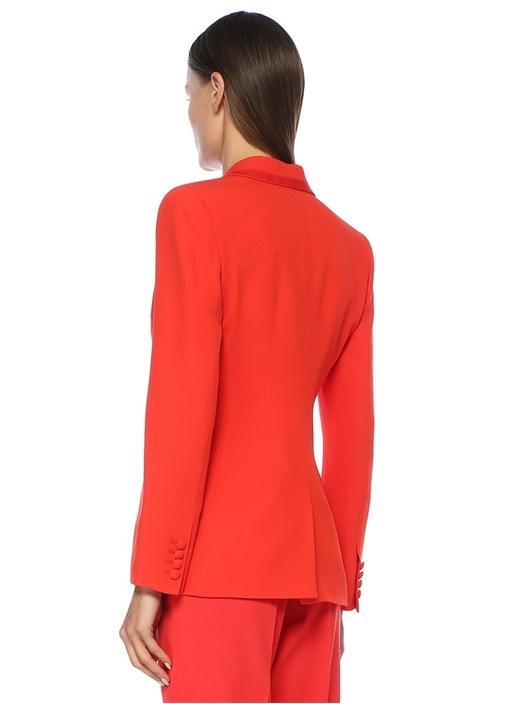 Straight Fit Kırmızı Kırlangıç Yaka Blazer Ceket