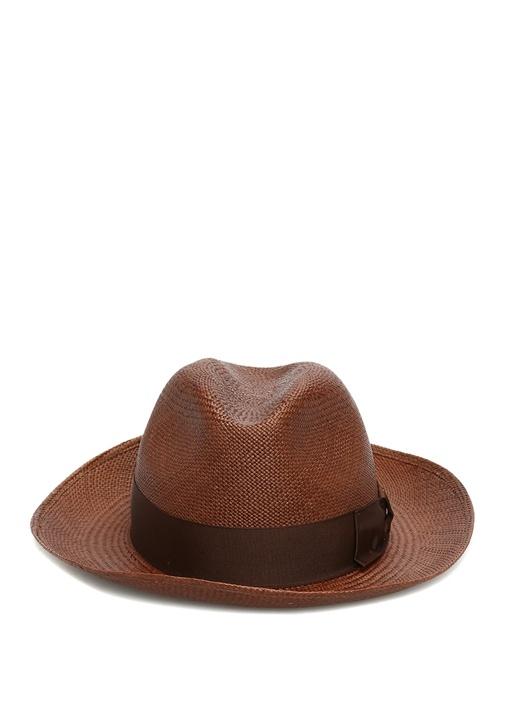 Kahverengi Bant Detaylı Erkek Hasır Şapka