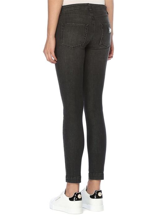 Pretty Fit Gri Düşük Bel Skinny Jean Pantolon