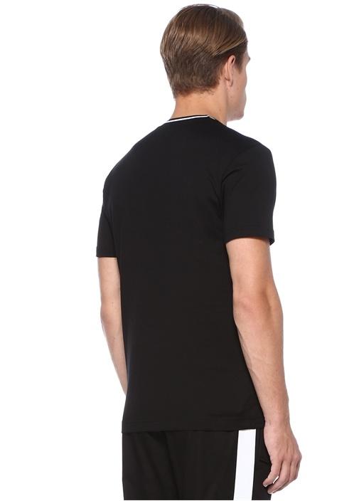 Siyah Taç Patchli Basic T-shirt
