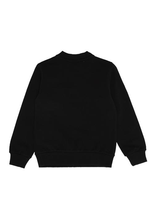 Siyah Yazı Baskılı Kız Çocuk Sweatshirt