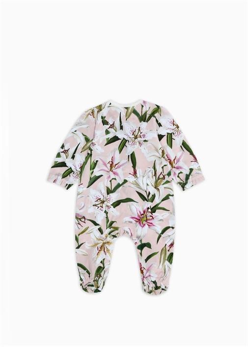Pembe Çiçek Baskılı Kız Bebek Hediye Seti